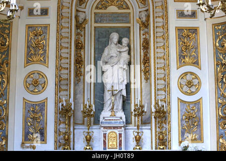 Virgin of the Carthusians, by Joseph-Hugues Fabisch, official sculptor to the Diocese of Lyon St. Virgin's chapel. - Stock Photo