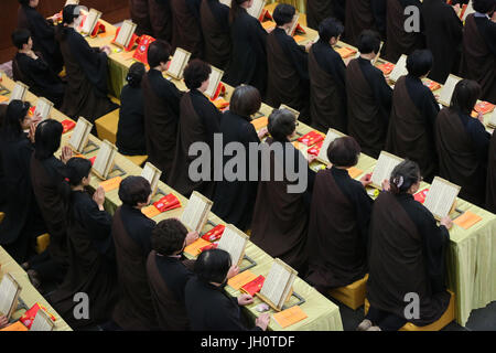 Fo Guang Shan temple the biggest buddhist temple in Europe.  Buddhist ceremony.  France. Stock Photo