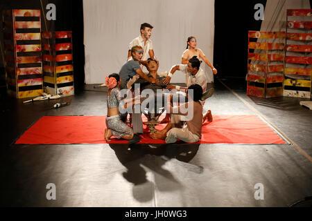 Phare Ponleu Selpak Tchamleak show in Battambang. Cambodia. - Stock Photo