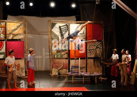 Phare Ponleu Selpak Phum style show in Battambang. Cambodia. - Stock Photo