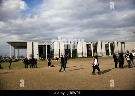 Germany, Berlin, Reichstag building, the German Bundestag, parliament building, Paul Löbe Haus - Stock Photo