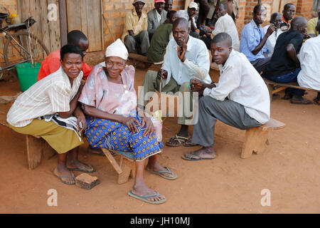 Ugandan villagers. Uganda. - Stock Photo