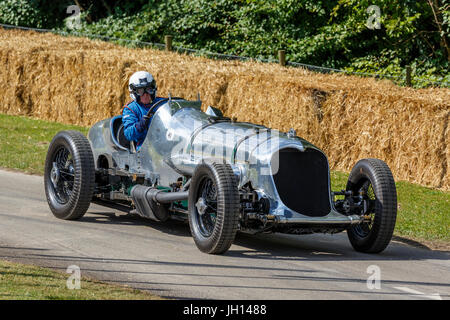 1933 Napier Railton Special with driver Allan Winn at the 2013 Goodwood Festival of Speed, Sussex, England, UK. - Stock Photo