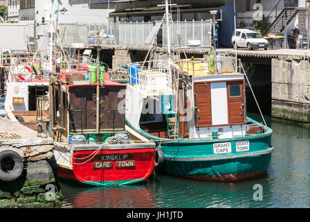 Cape Town, South Africa - March 02, 2017: Cape Town Harbour - Stock Photo