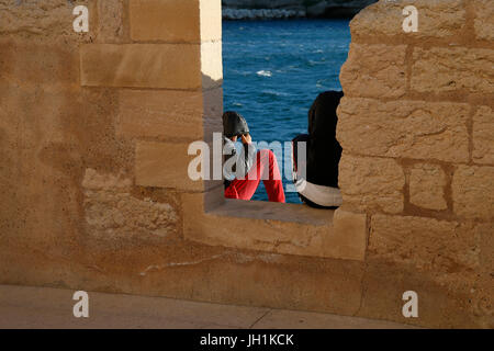 Fort St Jean rempart, Marseille. France. - Stock Photo
