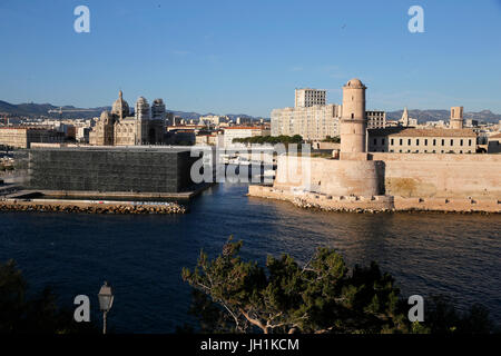 MUCEM & Fort St Jean, Marseille. France. - Stock Photo