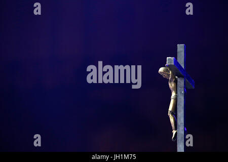 Hopeteen festival, Issy-les-Moulineaux, France. Crucifx. - Stock Photo