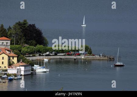 The village of Pella on Lake Orta. Italy. - Stock Photo