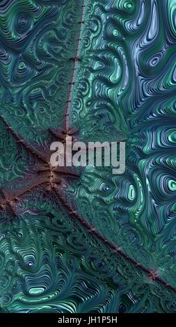 Abstract textured swirl pattern. Bold, colorful 3D illustration. - Stock Photo
