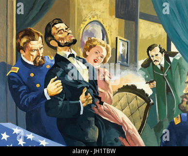 Abraham Lincoln (1809-1865). American Politician and lawyer.16th President of the United States. Assassination of - Stock Photo