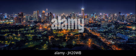 Bangkok downtown panorama - Stock Photo