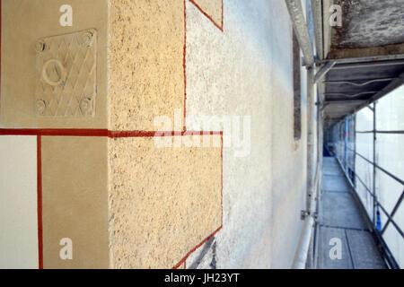 Restoration of Saint Gervais baroque church.  France. - Stock Photo