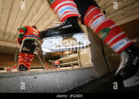 Ice Hockey match.  France. - Stock Photo