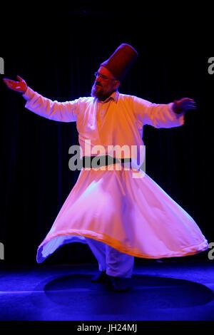Sufi show in Paris. France. - Stock Photo