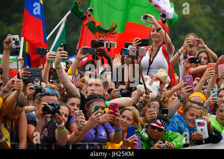 World Youth Day. Krakow. 2016.  Poland. - Stock Photo