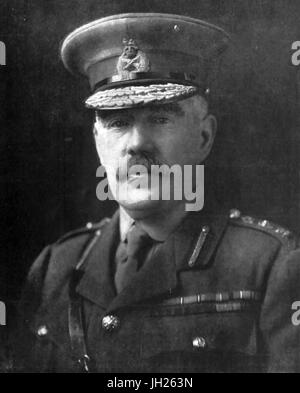 WILLIAM ROBERTSON (1860-1933) British Army officer as Chief of the Imperial General Staff - Stock Photo