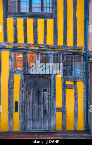 Water Street, Lavenham, Suffolk, England, United Kingdom, Europe - Stock Photo