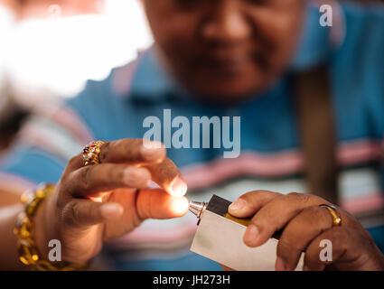Jade Market, Mandalay, Mandalay Region, Myanmar (Burma), Asia - Stock Photo