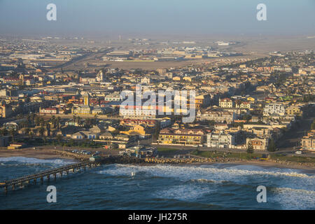 Aerial of Swakopmund, Namibia, Africa - Stock Photo