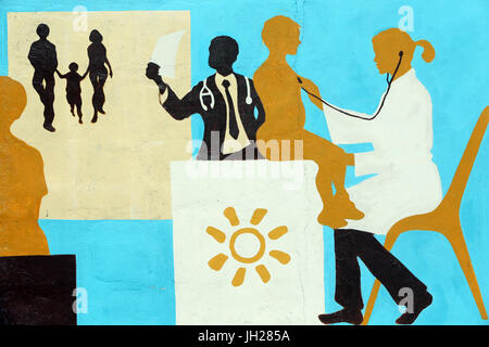 Humanitarian Medicine. French NGO La Chaine de l'Espoir.  Lome. Togo. - Stock Photo