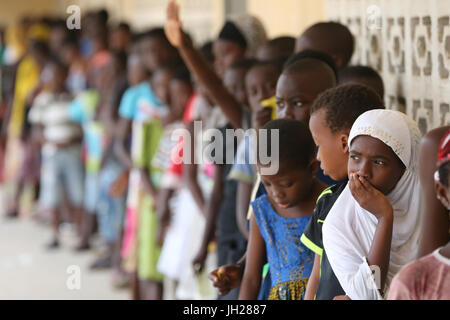 Primary school in Africa. Schoolkids.  Lome. Togo.