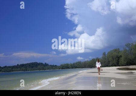 Beach in Ream National Park, Sihanoukville, Cambodia, Indochina, Southeast Asia, Asia - Stock Photo