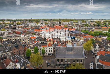 Aerial view of Schiedam, Netherlands, Europe - Stock Photo