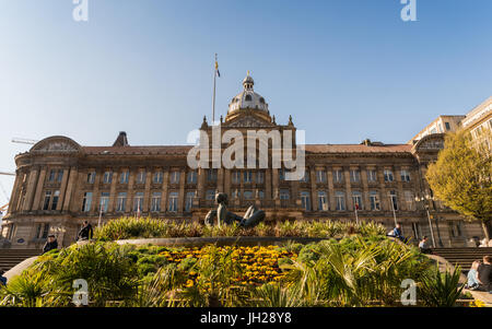 Victoria Square, a pedestrianised public square in Birmingham, England, United Kingdom, Europe - Stock Photo