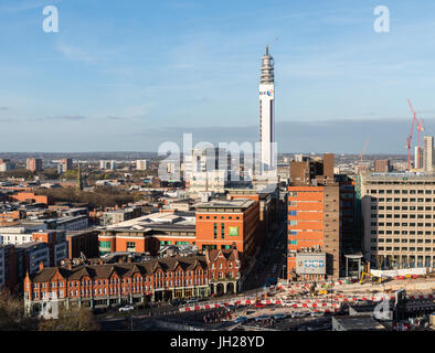 Panorama of Birmingham, England, United Kingdom, Europe - Stock Photo