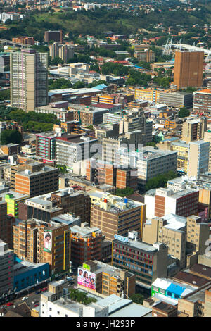 Johannesburg cityscape from the top of the Carlton Centre, Johannesburg, South Africa, Africa - Stock Photo