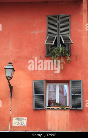 Old Town, Vieux Nice, Nice, Cote d'Azur, French Riviera, Alpes Maritimes, Provence, France, Europe - Stock Photo