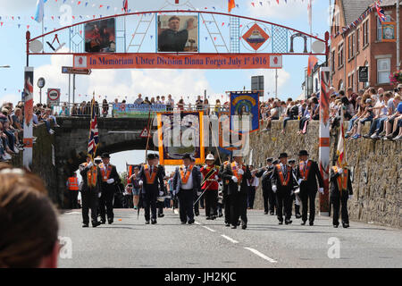 Banbridge, County Down, Northern Ireland. 12th July 2017. The Twelfth of July was marked by this Orange Order Parade - Stock Photo