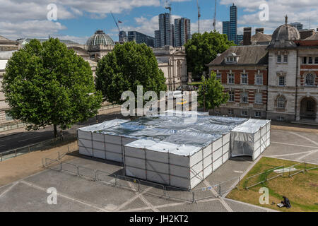 London, UK. 12th July, 2017. The outside of Cosmic Latte Lullaby a new installation by Sally Buchanan as part of - Stock Photo