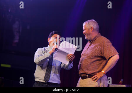 Seattle, Washington, USA. 11th July, 2017. Former Seattle Mayor Mike McGinn at Candidate Survivor 2017 'A Seattle - Stock Photo