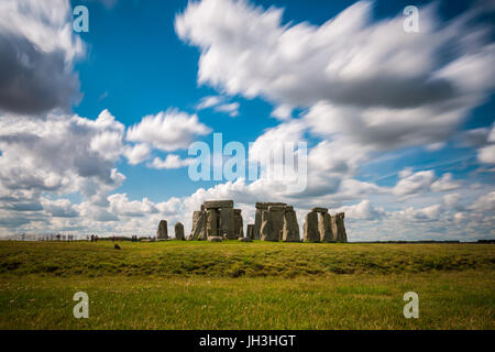 Stonehenge, Wiltshire, United Kingdom.The site and its surroundings were added to UNESCO's list of World Heritage - Stock Photo