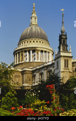 St Paul's cathedral. London. England. UK - Stock Photo