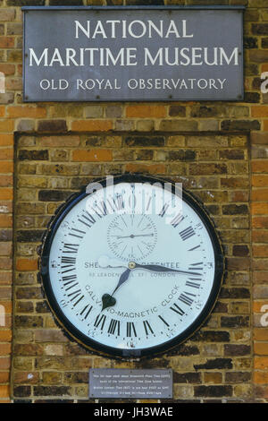 Shepherd Gate Clock at Royal Greenwich Observatory, London, England, UK - Stock Photo
