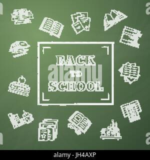 Back to School vector illustration - Stock Photo