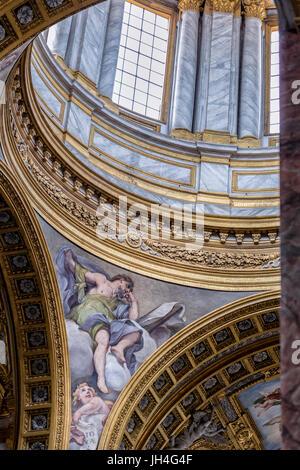 A interior view of San Carlo Al Corso, Rome, Italy - Stock Photo