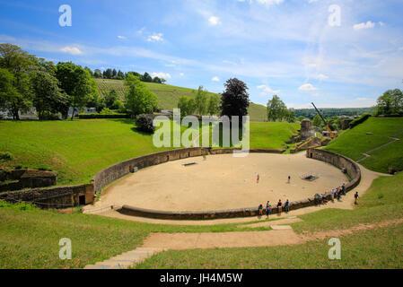 Amphitheater, Trier, Rhineland-Palatinate, Germany - Stock Photo