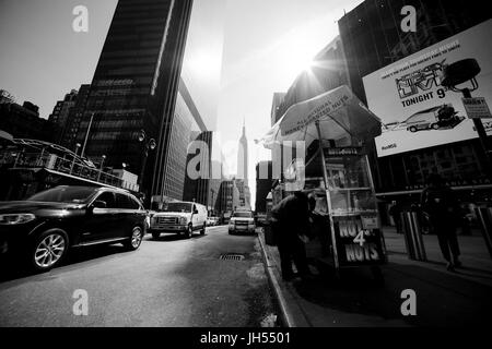 new york - circa march 2016 - in the streets of new york - Stock Photo