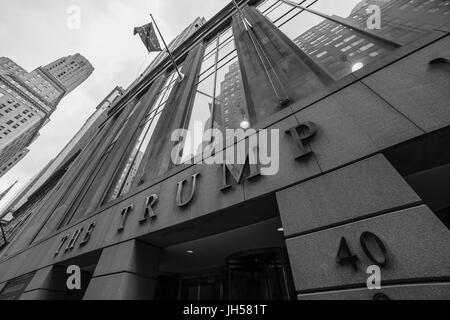 new york - circa march 2016 - trump tower in ny - Stock Photo