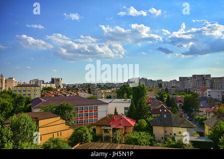 The city of Bucharest seen from downtown - Stock Photo