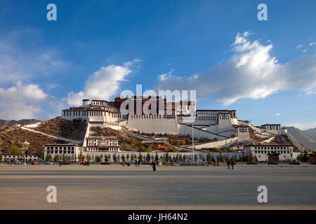the Potala Palace,Lhasa,Tibet,China - Stock Photo