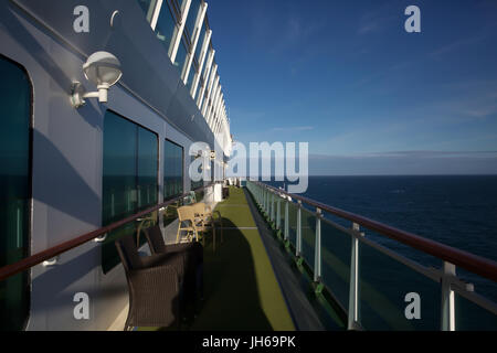 On board P&O Cruise ship Azura - Stock Photo
