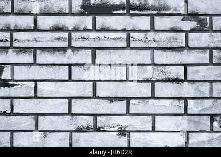 White paint copy space on brick wall, urban grunge background surface Stock Photo