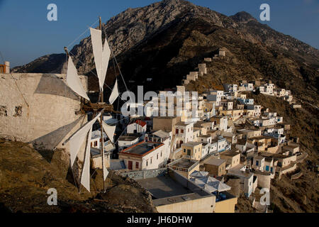 Olympos, Karpathos, Dodecanese, Greek Islands, Greece - Stock Photo