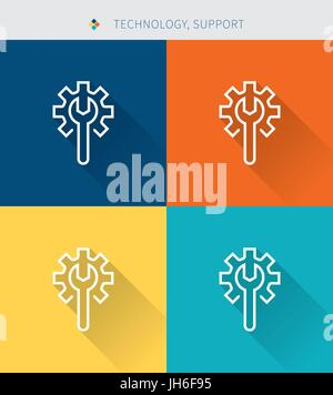 Thin thin line icons set of human head concept design, modern simple style - Stock Photo