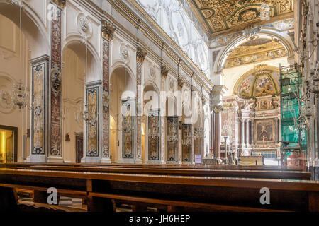 Interior of the Amalfi Cathedral - Stock Photo