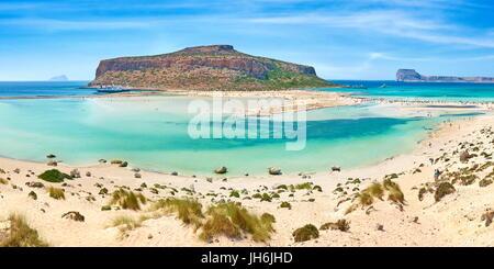 Balos Beach, Gramvousa Peninsula, Crete Island, Greece - Stock Photo